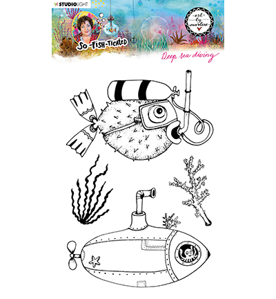 Studiolight, Art by Marlene, Clear Stamp,  So-Fish-Ticated, , Deep Sea Diving - ABM-SFT-STAMP12