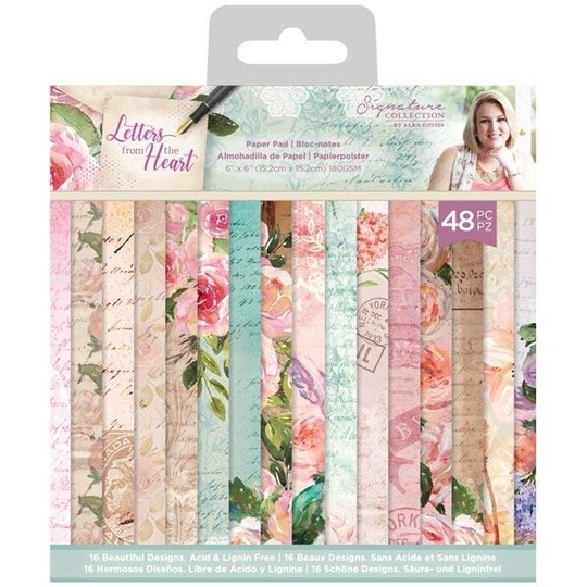 Crafter's Companion, Signature Collection, Letters from the Heart , 6x6 inch - S-LFTH-PAD6