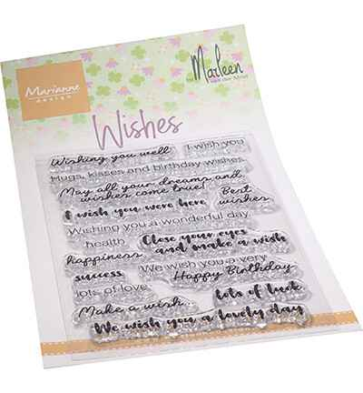 Marianne Design, Clear Stamp , Wishes by Marleen - CS1079