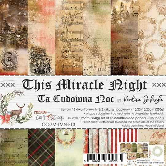 Craft O Clock, Paperpad, This Miracle Night , 15,25 x 15,25 cm