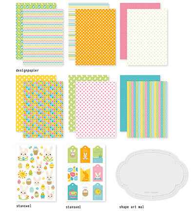 Dutch Doobadoo, Crafty Kit, Easter Bunnies - 473.005.007