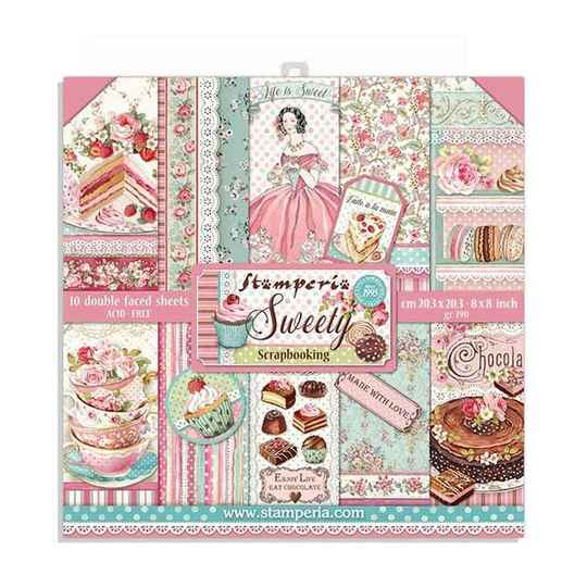 Stamperia, Paperpad, Sweety, 8x8 inch - SBBS21