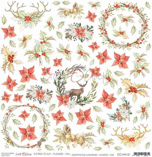 Craft O Clock, Scrapbookvel, Flowers nr. 21 - Sheet of Extra's to cut
