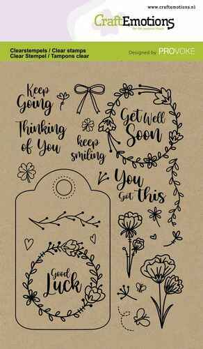 CraftEmotions, Clear Stamp, Good Luck - 130501/2501