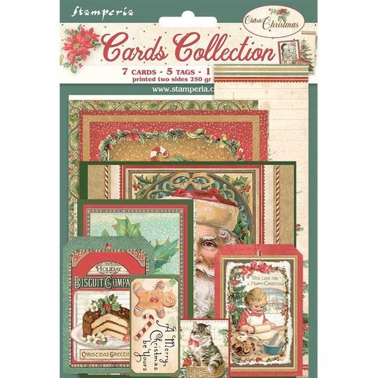 Stamperia, Cards Collection, Classic Christmas - SBCARD07