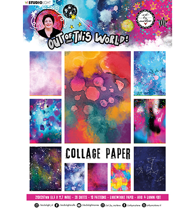 Studiolight, Art by Marlene, Collage Paper, Pattern Paper, Out of this World, nr. 14 - ABM-OOTW-PP14