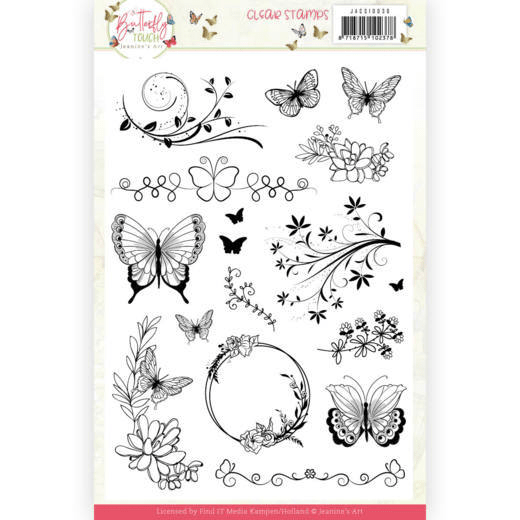 Jeanine's Art, Clear Stamp, Butterfly Touch - JACS10036