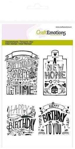 CraftEmotions, Clear Stamp, Handlettering, New Home - 130501/1259