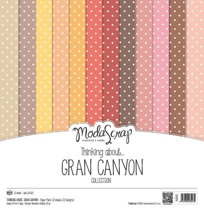 Moda Scrap, Paperpad, Thinking About, Grand Canyon, 12x12 inch - MSC020