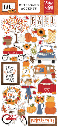 Echo Park, Chipboard Accents, Fall - FAL251021