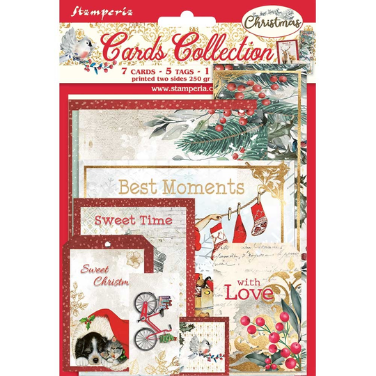 Stamperia, Cards Collection, Romantic Christmas - SBCARD09