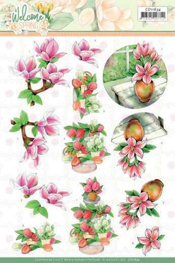 Jeanine's Art, 3D Knipvel, Welcome Spring, Pink Magnolia  - CD11634