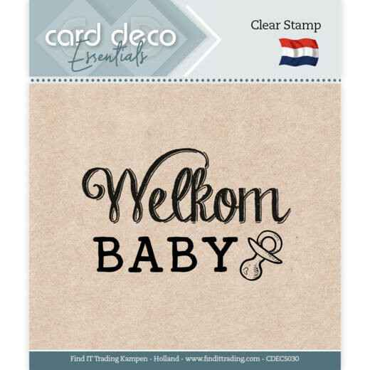 Card Deco, Clear Stamp, Welkom Baby - CDECS030
