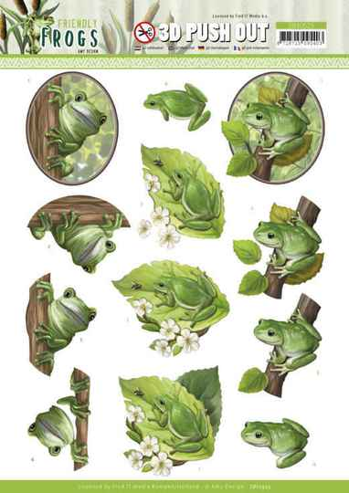 Amy Design, 3D Push Out, Friendly Frogs, Tree Frogs - SB10523
