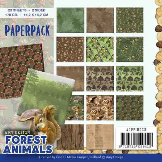 Amy Design, Paperpad, Forest Animals - ADPP10038