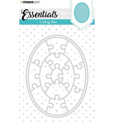 Studiolight, Snijmal, Essentials, Small Shape, Oval Puzzle , Nr. 386 - STENCILSL386