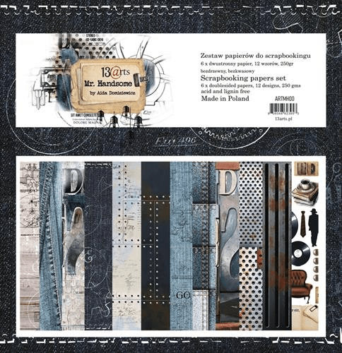 13@rts, Paperpad, Mr. Handsome, 12x12 inch - ARTMH00