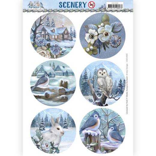 Amy Design, Push Out, Scenery, Awesome Winter Circle  - CDS10065
