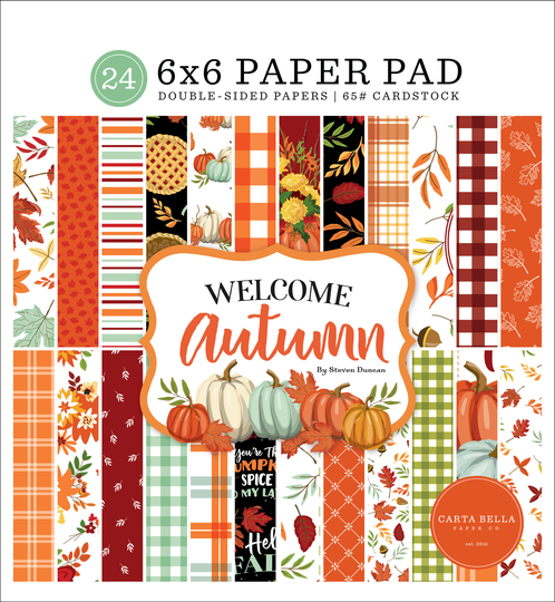 Carta Bella,  Paperpad, Welcome Autumn , 6x6 inch