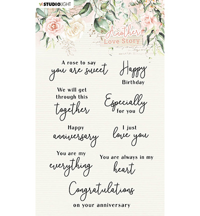 Studiolight, Clear Stamp, Another Love Story, Love-Phrases - SL-ALS-STAMP02