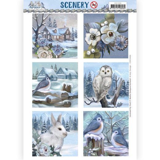 Amy Design, Push Out, Scenery, Awesome Winter Square  - CDS10066