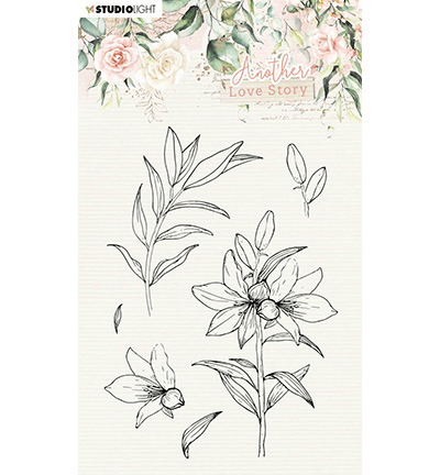 Studiolight, Clear Stamp, Another Love Story, Lily Flower - SL-ALS-STAMP04