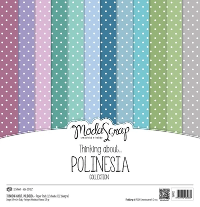 Moda Scrap, Paperpad, Thinking About, Polinesia , 12x12 inch - MSC022