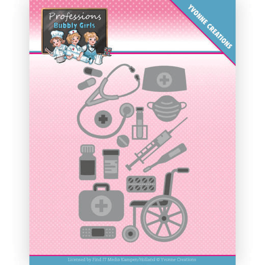 Yvonne Creations, Snijmal, Bubbly Girls, Professions, Healthcare - YCD10235