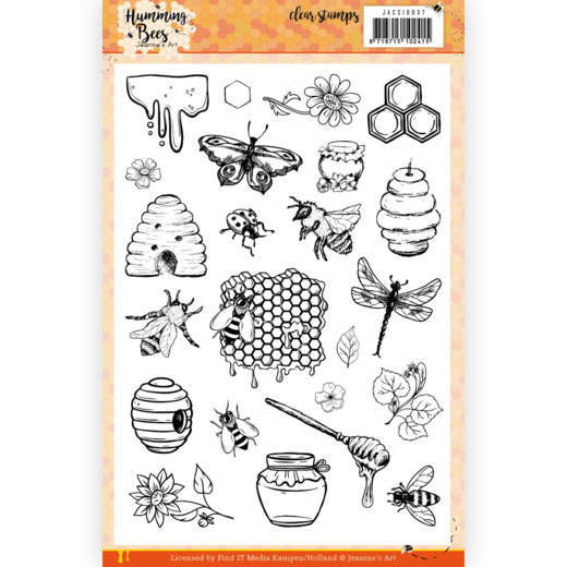 Jeanine's Art, Clear Stamp, Humming Bees - JACS10037