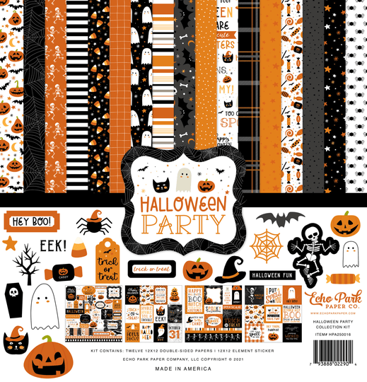 Echo Park, Paperpad, Halloween Party, 12x12 inch - HPA250016