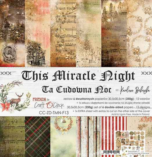 Craft O Clock, Paperpad, This Miracle Night , 30,5 x 30,5 cm