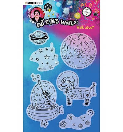 Studiolight, Art by Marlene, Clear Stamp, Out of this World, Walk About - ABM-OOTW-STAMP69