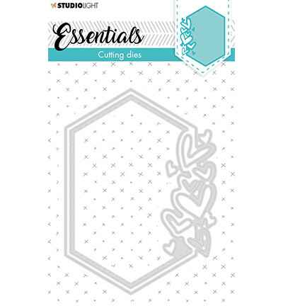 Studiolight, Snijmal, Essentials, Small Shape, Hexagon Hearts , Nr. 389 - STENCILSL389