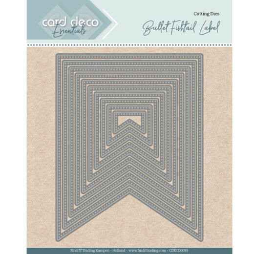 Card Deco, Nesting Dies, Bullet Fishtail Label - CDECD0093