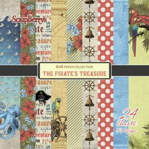 Scrapberry's, The Pirate's Treasure, 6x6 inch