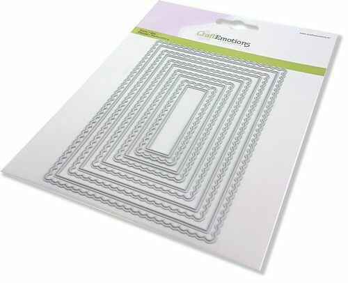CraftEmotions, Snijmal, Big Nesting Die, Scalop Rectangles - 115633/0953
