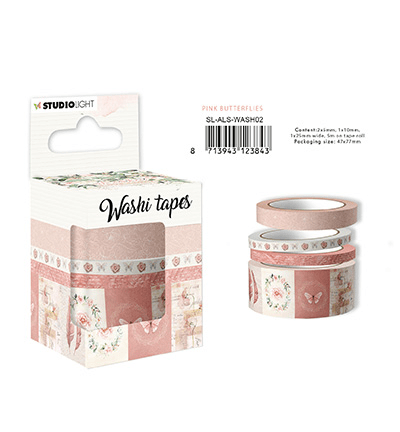 Studiolight, Washi Tape, Another Love Story, Pink Butterflies - SF-ALS-WASH02