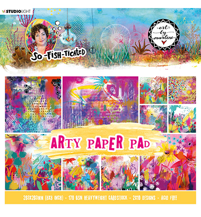 Studiolight, Art by Marlene, Paperpad, Arty Paper Pad, So-Fish-Ticated, nr. 3 - ABM-SFT-PP03