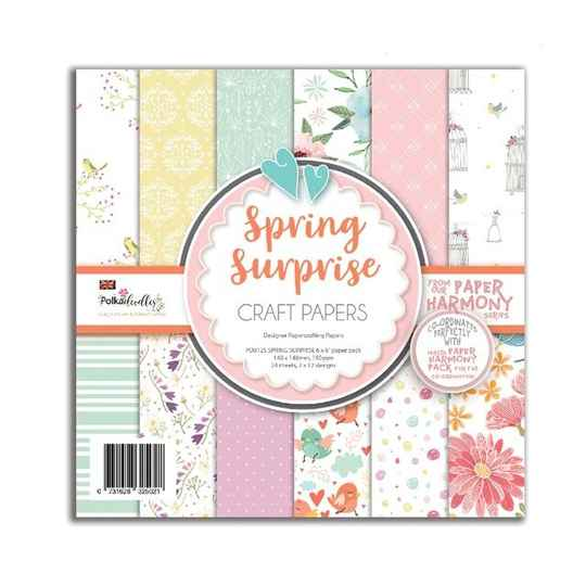 PolkaDoodles, Paperpad, Spring Surprise, 6x6 inch - PD8125