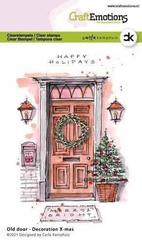 CraftEmotions, Clear Stamp, Carla Kamphuis, Old Door - Decoration X-mas - 130501/2302
