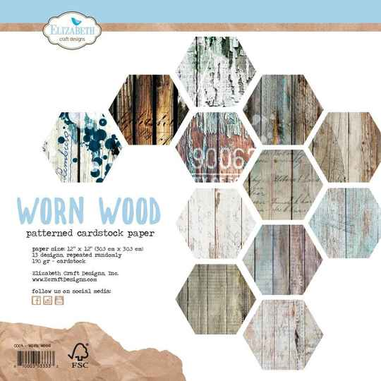 Elizabeth Craft Design, Paperpad, Scrapbook, Worn Wood -  C004