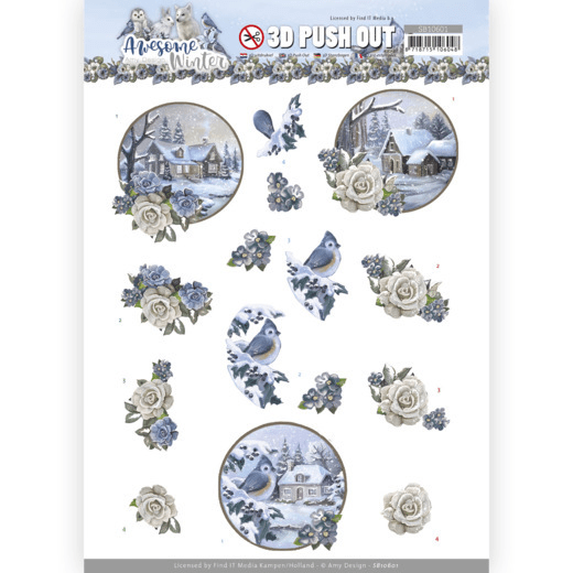 Amy Design, 3D Push Out, Awesome Winter, Winter Village - SB10601