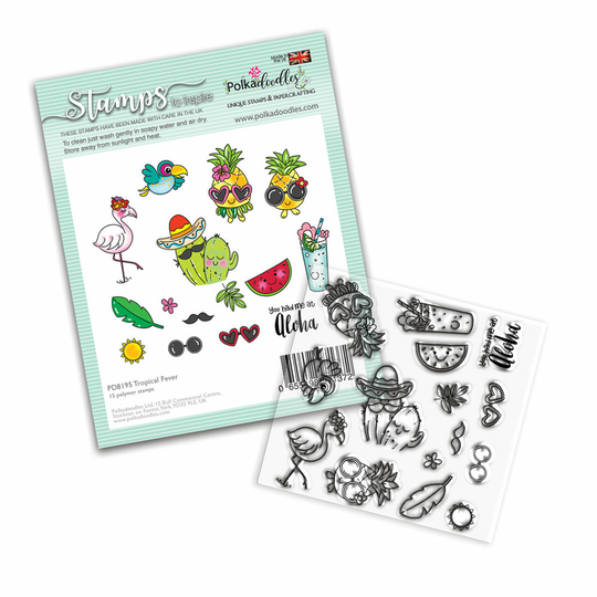 PolkaDoodles, Clear Stamp, Tropical Fever - PD8195