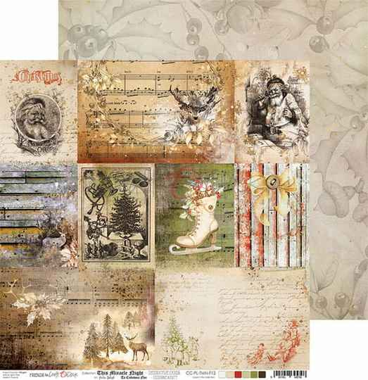 Craft O Clock, Scrapbookvel, This Miracle Night, A sheet with Decorative Cards