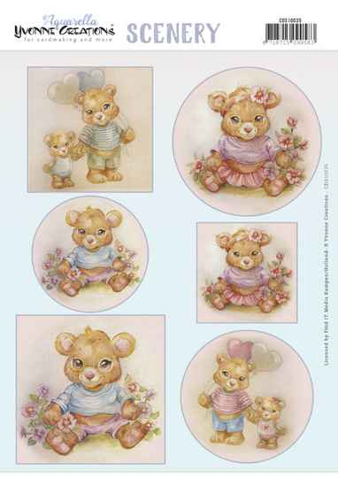 Yvonne Creations, Push Out Scenery, Aquarella, Baby - CDS10035