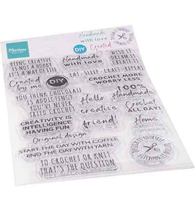 Marianne Design, Clear Stamp, Crafting Sentiments - CS1072