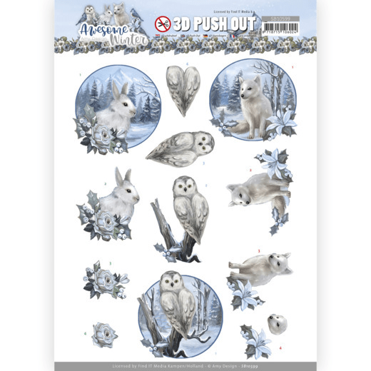 Amy Design, 3D Push Out, Awesome Winter, Winter Animals - SB10599
