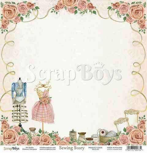 ScrapBoys, Scrapbookpapier, Sewing Love 02 - SELO-02