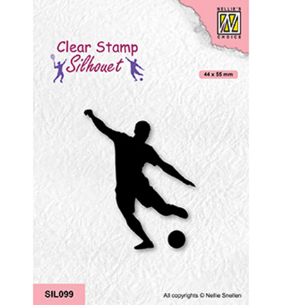 Nellie Snellen, Clear Stamp, Soccer Player - SIL099