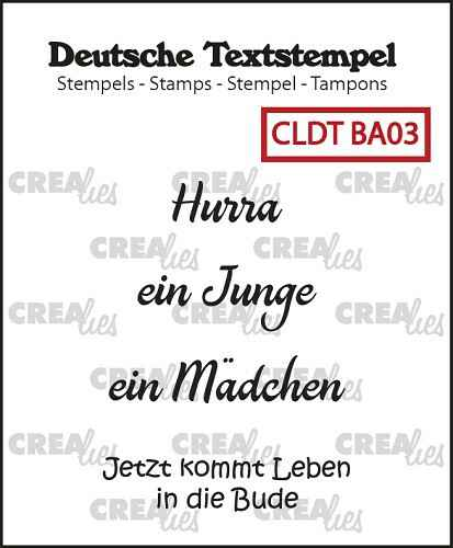 Crealies, Clear Stamp, Tekst, Baby 03 - CLDTBA03